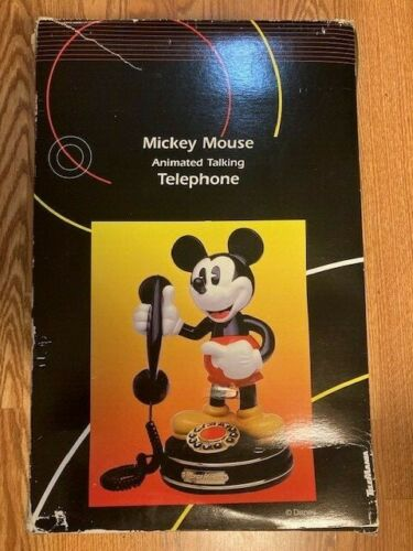Mickey Mouse Animated Talking Telephone by TeleMania Collectible Electronics