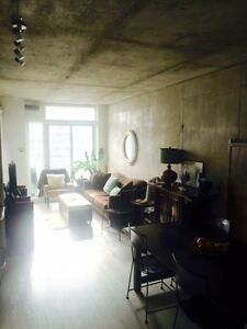 Trendy 1+1 furnished Queen West loft for rent Aug 15th