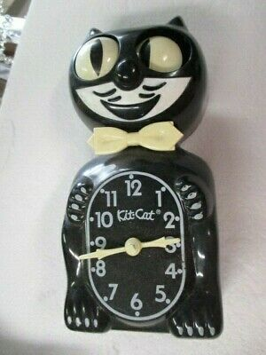 Kit Cat Klock Clock Black Vintage model B1 battery operated Not Working Parts