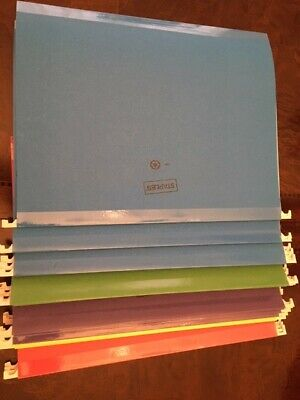 Staples Hanging File Folders Letter Size Assorted Colors 24box
