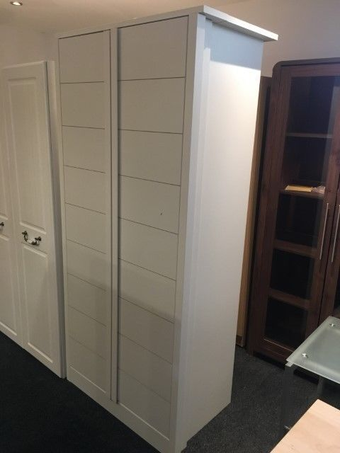 QUALITY WHITE 2 DOOR WARDROBE READY ASSEMBLED