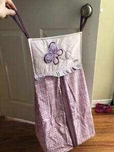 Purple Butterfly Diaper Holder