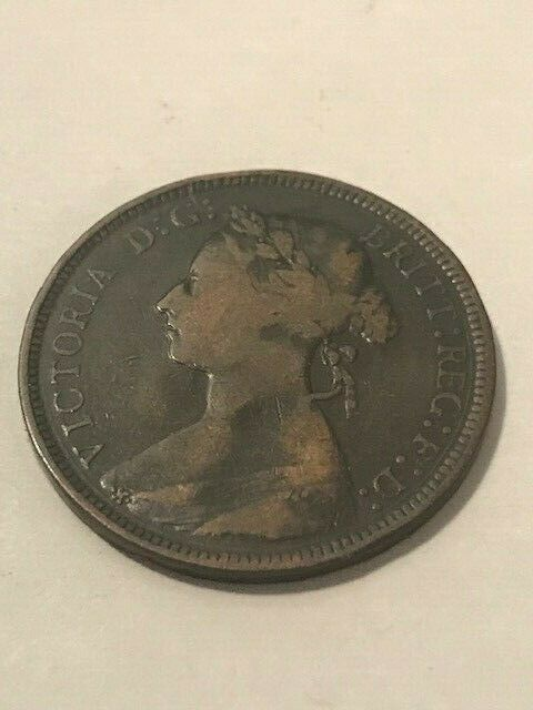 1893 Great Britain 1/2 Penny F #21095