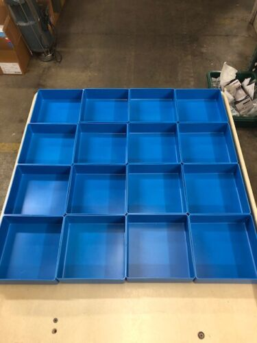 """16 6""""x6""""x2""""Blue Organizer Trays Toolbox Dividers cups fit Lista Vidmar"""