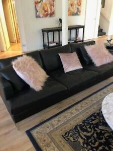 Black Leather sofa Made by Jardan Australia
