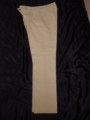 Joseph Zoom Slim Fit Gabardine Stretch Trousers Beige Brand New BNWOT UK10