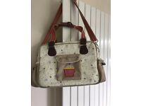 Yummy Mummy Pink Lining Bees and Flowers Changing Bag - Very Good Clean Condition