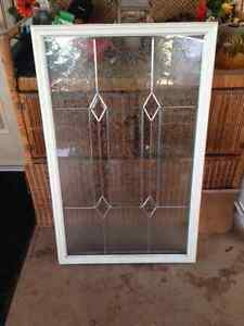 Stained glass exterior door insert