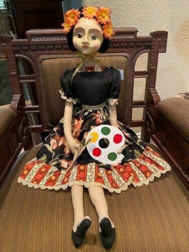 Frida Kahlo Art Doll by Florence Lea - Artist Doll w/ paint palette Gallerie II