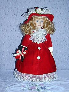 Porcelain Doll with 2 Bears in pocket .. Excellent Condition .. Cambridge Kitchener Area image 7