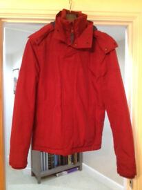 Men's Fat Face Red/Blue Hooded Jacket Size S