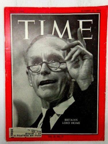 VINTAGE TIME MAGAZINE OCTOBER 25, 1963