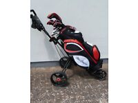 Golf Clubs Mens MacGregor Tourney Set and Trolley. All as new.