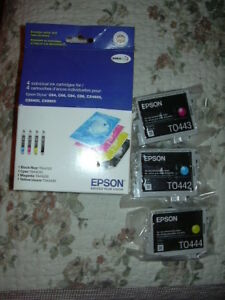 EPSON 3 pack colour ink cartridges: Cyan, Magenta, Yellow