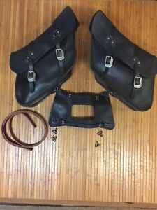 OEM Harley-Davidson Leather Latigo slant style bags and yoke