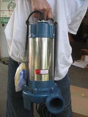 1.5hp Industrial Sewage Cutter Grinder Submersible Sump Pump 60gpm Msrp 1700