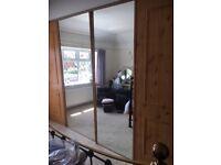 Wardrobe Doors x4 (2x Mirror, 2x Pine. Stanley/Space-Pro