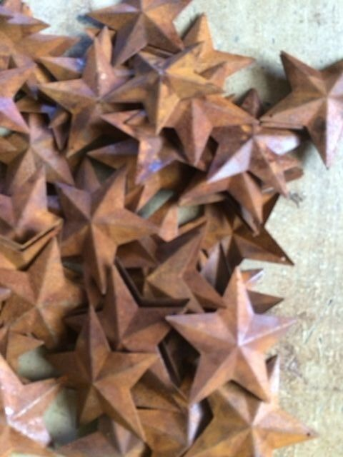 """Lot 100 Rusty Barn Stars 2.25 in 2 1/4"""" Primitive Country Rust Craft SHIPS FREE"""