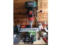 Pillar Drill with X/Y table + Mini Vice