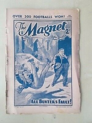 THE MAGNET - BILLY BUNTER'S OWN PAPER - VINTAGE BOYS COMIC - NOVEMBER 26th 1938