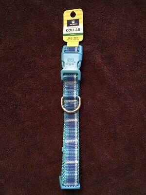 (S) Top Paw Aqua Blue Plaid Adjustable Fashion Collar for (Top Paw Adjustable Dog Collar)