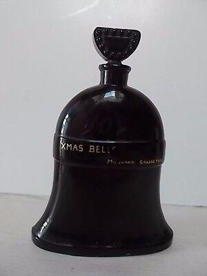 Molinard XMAS BELLS black glass figural perfume bottle