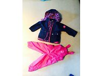 Jojo maman bebe 4 in 1 coat and dungarees age 2-3 : Helperby