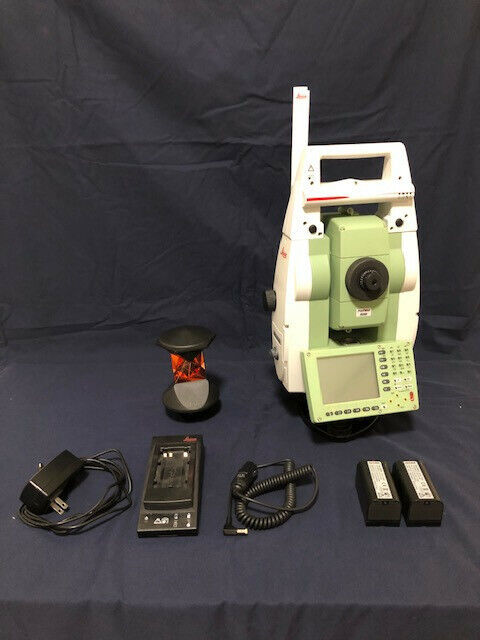 """Leica TCRP 1203 R300 3"""" Robotic Total Station With RH17 Handle and Leica Prism"""
