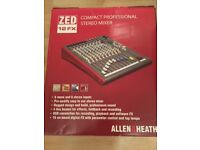 Allen & Heath ZED12FX Mixer, 4 years old brandnew still boxed and comes with Thomann Carry Case.