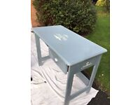 Beautiful bedroom dressing table painted in Annie Solaon French Grey