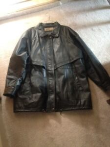 Leather Coat and Vest