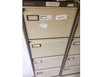 4-Drawer Filing Cabinets in Coffee/Cream