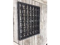 Large Cast Iron Grill/Grate/Vent/Coal Hole Cover/Door Mat/Shoe Scraper