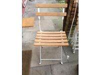 Set of 5 Habitat wooden folding garden chairs - low price for a quick sale