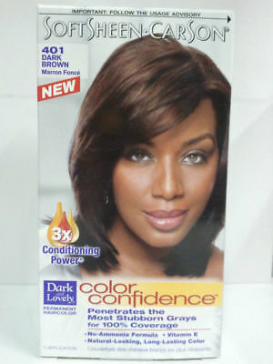[DARK & LOVELY] SOFT SHEEN CARSON COLOR CONFIDENCE HAIR DYE #401 DARK