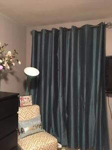 Teal Black Out Curtains