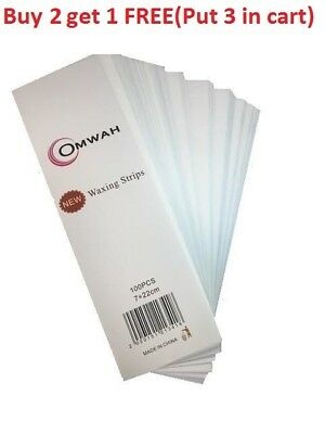 "Omwah Professional Waxing Non Woven Epilating Wax Strips 100 Count Large 3"" x 9"""