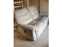 Matching G-plan double sofa with single recliner and revolving chair
