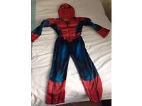Spiderman Dress Up Outfit - Age 5-6 + soft head mask