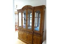 Dreesser with drawers, cupboards and glass cabinet