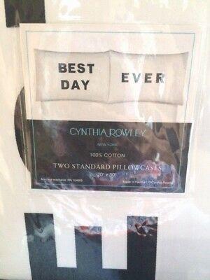 CYNTHIA ROWLEY 2 STANDARD PILLOWCASE PAIR
