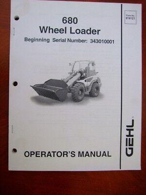 Gehl 680 Wheel Loader Operation Manual