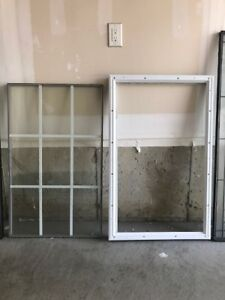 Brand New FRENCH GLASS DOOR INSERTS WITH FRAME -  GREAT PRICE!!