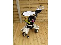 3 in 1 Smart Trike boys and girls, excellent condition with all accessories & toys
