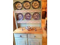 SHABBY CHIC BLUE KITCHEN DRESSER