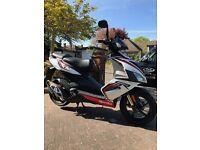 Aprillia SR50 2016 scooter White only 1483 miles