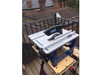Scheppach HS80 table saw (small bench top saw with extension leg)