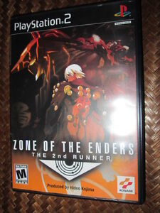 ***SONY PS2 ZONE OF THE ENDERS/THE 2ND RUNNER COMPLETE!!!***