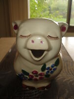 """JUST REDUCED-VINTAGE SHAWNEE POTTERY-""""SMILEY PIG""""-1930S -$149.99"""