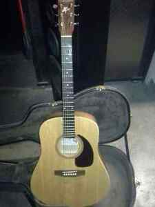 Handmade acoustic guitar solid wood made in canada